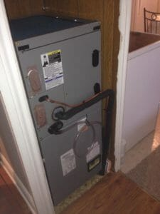 Downflow Electric Heatpump Combo in Mobile Home - Kingston