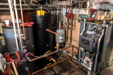high efficency boiler and indirect installation